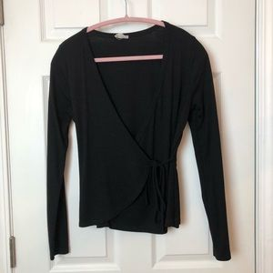 Plunge front sweater